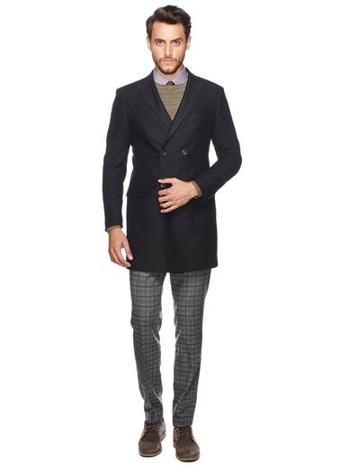 Altınyıldız Classics İngiliz Yaka Klasik Palto Siyah
